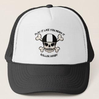 Rollerderby play it like you mean it trucker hat