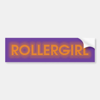 rollergirl bumper sticker