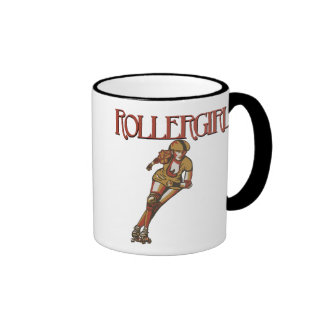 Rollergirl jammer ringer coffee mug