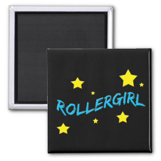 Rollergirl 2 Inch Square Magnet