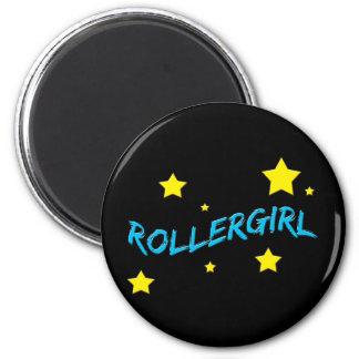 Rollergirl 2 Inch Round Magnet