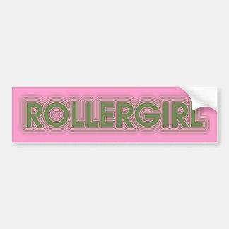 rollergirl pegatina para auto
