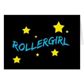 Rollergirl Tarjeta De Felicitación