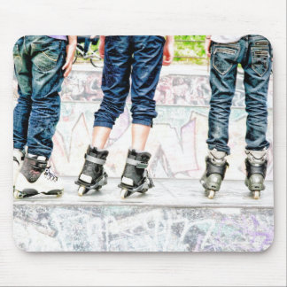 Rollers teenagers mouse mat