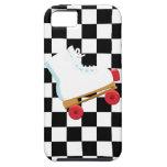 Rollerskate comprobado blanco y negro retro iPhone 5 fundas
