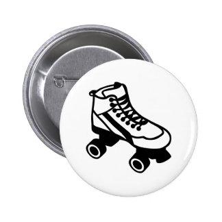 Rollerskate Pinback Button