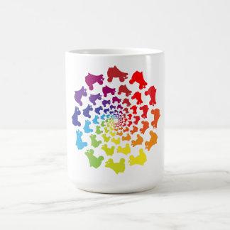 rollerskate rainbow circle coffee mug