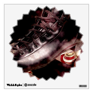 Rollerskate Roller Derby Grunge Style Wall Decal