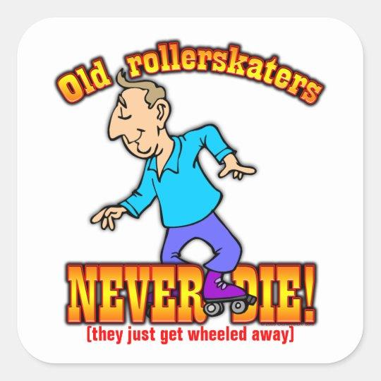 Rollerskaters Square Sticker