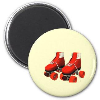 Rollerskates 2 Inch Round Magnet