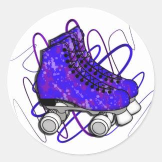 Rollerskates Classic Round Sticker