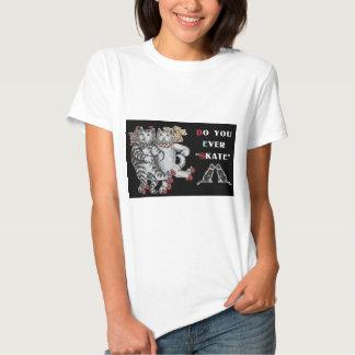 Rollerskating Cats Tee Shirt