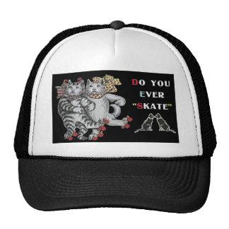 Rollerskating Cats Trucker Hat