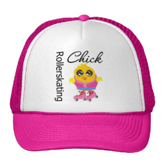 Rollerskating Chick Trucker Hat