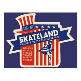Rollerskating de Skateland Cleveland Postal