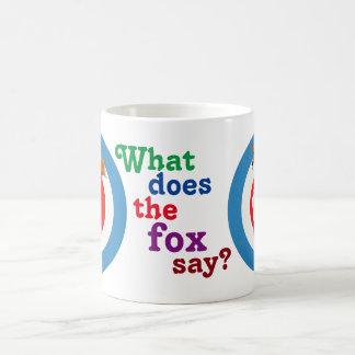 Rollerskating Fox Classic White Coffee Mug