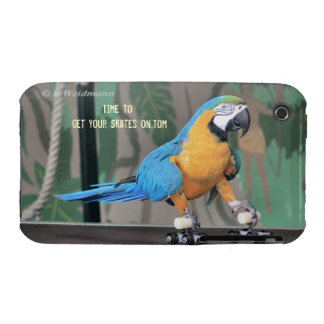 Rollerskating Parrot Case iPhone 3 Case-Mate Cases
