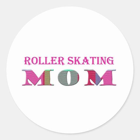 RollerSkatingMom Classic Round Sticker