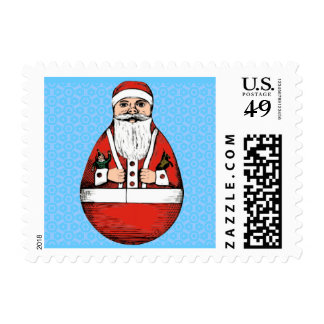 Rollie Pollie Santa Clause Postage Stamps