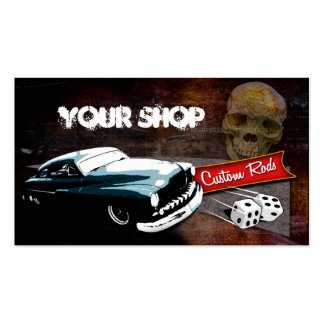 Rollin' Bones Hot Rods Business Card Template