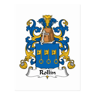 Rollin Family Crest Post Card