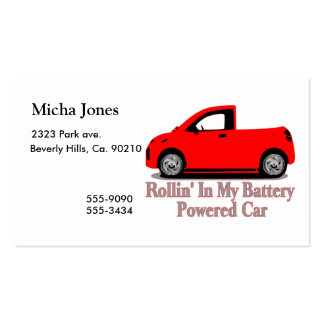 Rollin' In My Battery Car Business Card