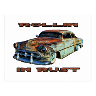 Rollin In Rust Chopped Chevy Post Cards