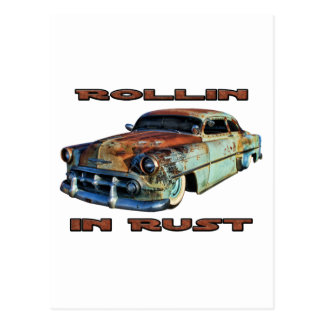 Rollin In Rust Chopped Chevy Postcard