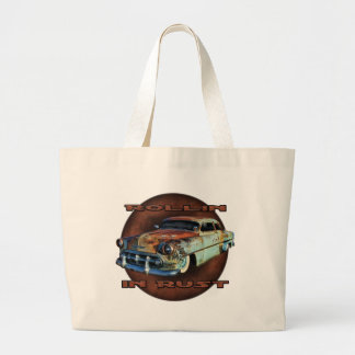 Rollin in rust Tail Dragger Chopped Chevy Tote Bag