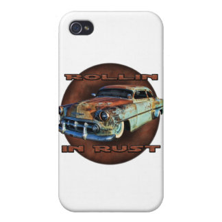 Rollin in rust Tail Dragger Chopped Chevy iPhone 4 Cases