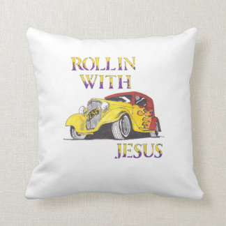 Rollin with Jesus Pillows