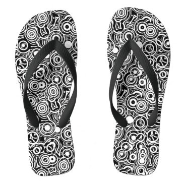Beach Themed Rolling A Round - Abstract Pattern Flip Flops