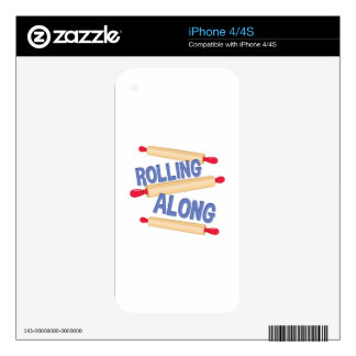 Rolling Along iPhone 4 Decal