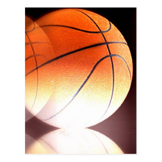 Rolling Basketball Artwork Postcard