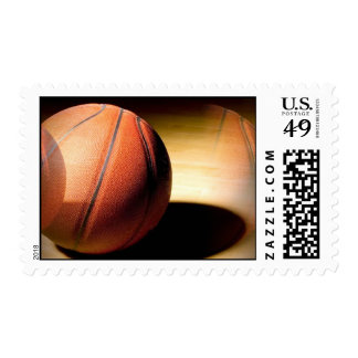 Rolling Basketball Postage Stamp