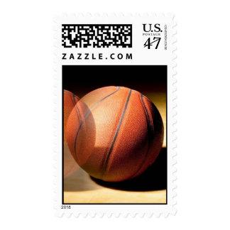 Rolling Basketball Postage Stamp