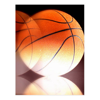 Rolling Basketball Postcard