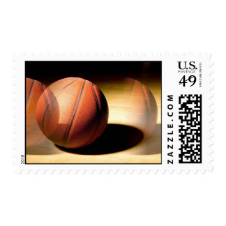Rolling Basketball Stamp