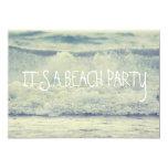 "Rolling Beach Waves 5"" X 7"" Invitation Card"