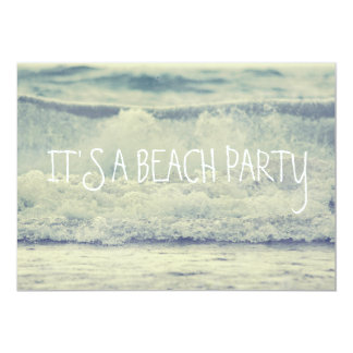 Rolling Beach Waves 5x7 Paper Invitation Card