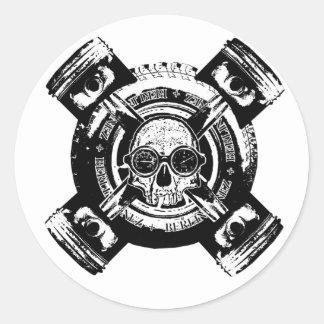 Rolling Bonez I Round Sticker