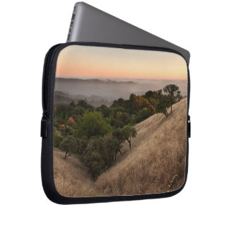 Rolling California hillside at sunset Computer Sleeves