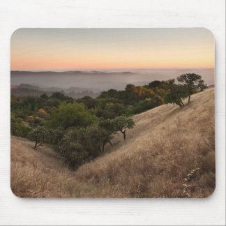 Rolling California hillside at sunset Mouse Pad