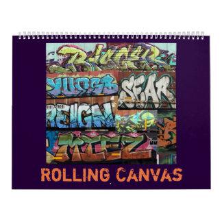 Rolling Canvas Calendar