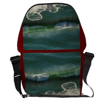 Rolling Curling Pacific Ocean Wave Messenger Bags