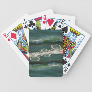 Rolling Curling Pacific Ocean Wave Bicycle Playing Cards