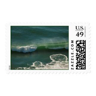 Rolling Curling Pacific Ocean Wave Postage Stamp