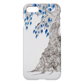 """Rolling Designs, """"Blue Leaves Tree"""" iPhone 7 Case"""