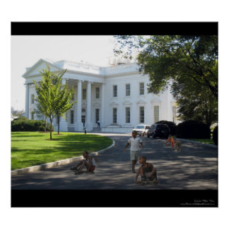 rolling down The White House driveway Print