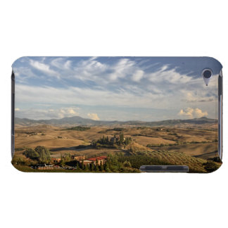 Rolling farm land after the harvest at sunset iPod touch case